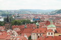 Roofs of Prague Royalty Free Stock Photography