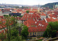 Roofs of prague czech republic april view the rooftops the old and well preserved city Royalty Free Stock Images