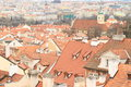 Roofs of prague view on ancient buildings old town in czech republic Royalty Free Stock Photos