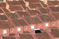 Roofs of red residential houses in a urbanization in spain Royalty Free Stock Photos