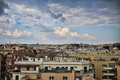 Roofs of rme italy sky and view in rome Stock Images