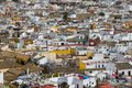 Roofs in seville aerial view spain Royalty Free Stock Photos