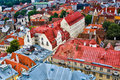 Roofs of Tallinn Old Town Royalty Free Stock Photo