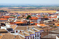 Roofs of town in la mancha region campo de criptana Royalty Free Stock Photography