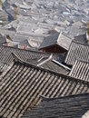 The roofs of traditional naxi folk house in lijiang yunnan province china Stock Photo