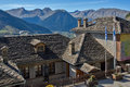 Roofs and valley of Town of Metsovo, Epirus Royalty Free Stock Photo