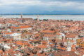 Roofs of venice aerial view roof venetian houses italy Stock Images