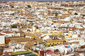 Roofs and white houses view from giralda bell tower seville or sevilla andalusia spain europe Royalty Free Stock Photos