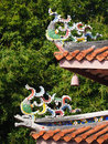 Rooftop decoration of Tainan Confucius Temple Royalty Free Stock Photo