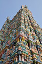 Rooftop of madurai temple colourful tamil nadu india Stock Photo