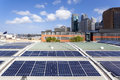 Rooftop solar panels Royalty Free Stock Photo