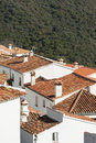 Rooftops in andalusian village detail of the province of malaga spain Royalty Free Stock Photo
