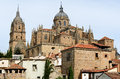 Rooftops and Cathedral of Salamanca, Spain Stock Photos