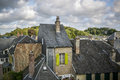 Rooftops with chimneys old of saint vallery sur somme france Royalty Free Stock Photo