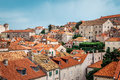 Rooftops in Dubrovnik old town in Croatia on a sunny day Royalty Free Stock Photo