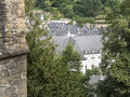 Rooftops of grund luxembourg old part Stock Images