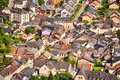 Rooftops and houses from vianden streets the tourist city of luxembourg Royalty Free Stock Photography