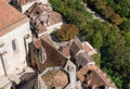Rooftops at rocamadour photo of the of in france Royalty Free Stock Photos