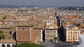 Rooftops of rome italy aerial view in Stock Image