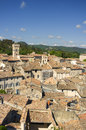 Rooftops, Viviers, France Royalty Free Stock Image