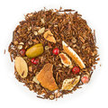 Rooibos gingerbread biscuit orange tea raw isolated on pure white Stock Image