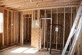 Room addition new construction being added to old home Royalty Free Stock Photo