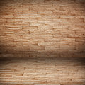 Room with brick wall. grunge industrial interio Stock Photo