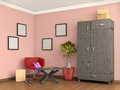 Room with cupboard,