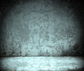 Room with grunge concrete wall, cement floor Royalty Free Stock Images