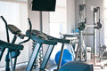 Room with gym equipment Royalty Free Stock Photo