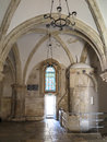 Room of the last supper jerusalem israel july cenacle where jesus and his disciples held passover feast Royalty Free Stock Photos