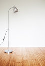 Room with modern floor lamp empty Stock Photos