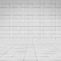 Room perspective white  tile wall texture Royalty Free Stock Photo