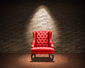 Room with red armchair Royalty Free Stock Images