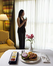 Room service. Royalty Free Stock Images