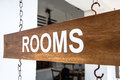 Rooms a advertisment sign for available at a guesthouse in galle sri lanka Stock Photography
