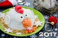 Rooster cake cock cake, hen cake, chicken cake, bird cake - fe Royalty Free Stock Photo