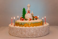 Rooster cake hen cake, chicken cake, bird cake Royalty Free Stock Photo