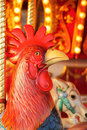 Rooster on a Carousal Stock Photography