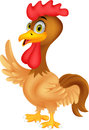 Rooster cartoon waving illustration of Stock Photo