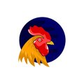 Rooster head icon vector logo element