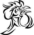 Rooster tribal art tattoo design Stock Photography