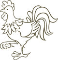 Rooster vector illustration of the Royalty Free Stock Photography
