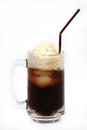Root beer float isolated on white background Royalty Free Stock Photo