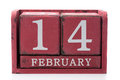 Root calendar february isolate on white Royalty Free Stock Photography