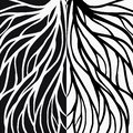 Root pattern illustration for textile and printing