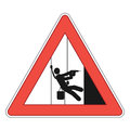 Rope access sign Royalty Free Stock Photo