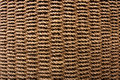 Rope basket weave texture detail of a curved surface Royalty Free Stock Images