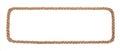 Rope border isolated on white background Royalty Free Stock Photo