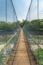 Rope bridge in bukit lawang village sumatra indonesia Stock Images